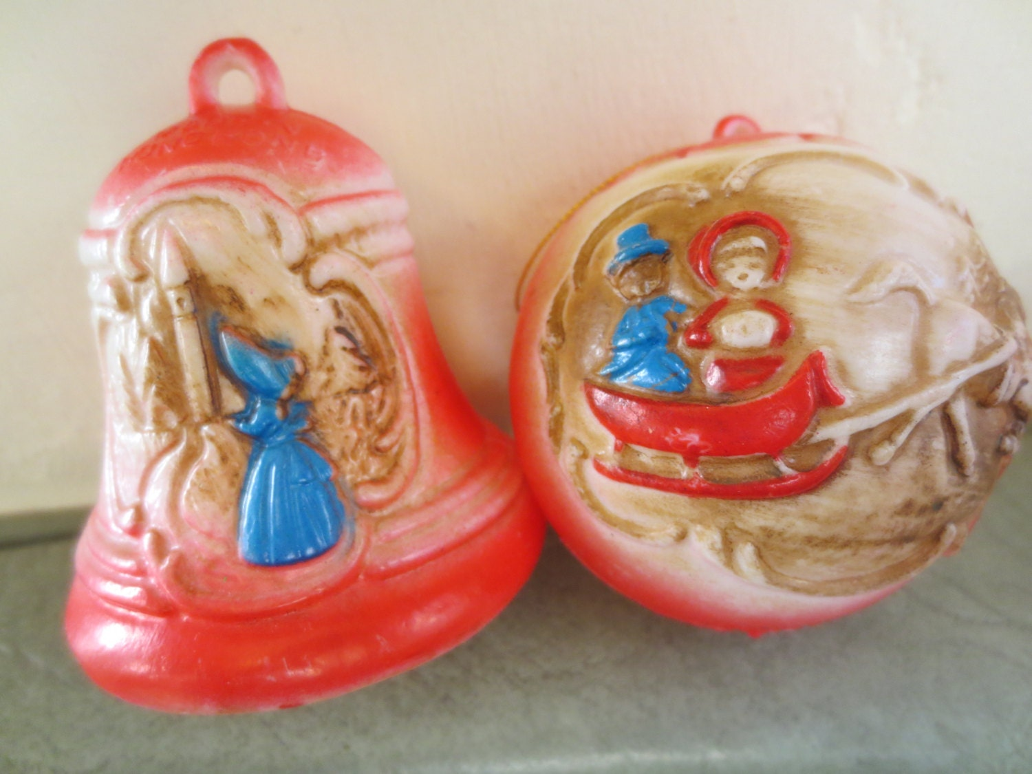 Items Similar To Vintage Ornaments Plastic Ornaments Old