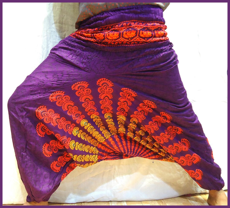 Indian Yoga Harem Pants 100% Organic Cotton By