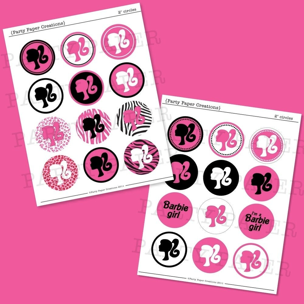 ... for Cupcake Toppers, Stickers, Hair Bows, Favor Tags, Jewelry and more