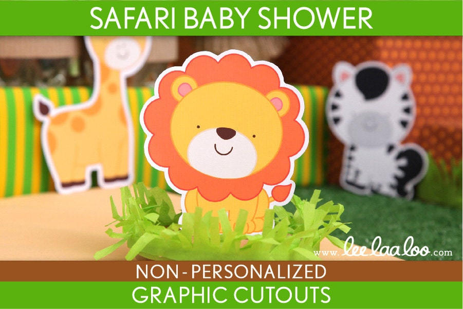 Safari Animal Cutouts Baby Safari Animal Cutouts