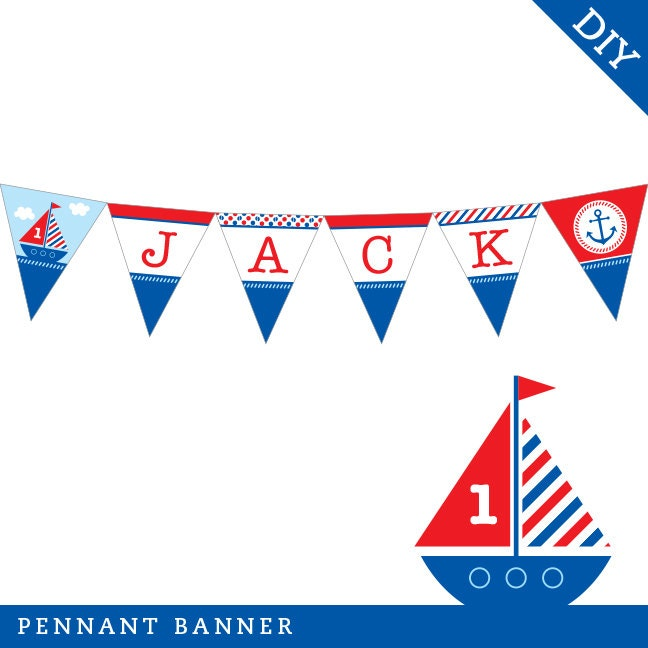 Personalized DIY Printable Pennant Banner