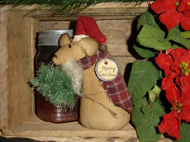 Santa Mouse Primitive E-pattern