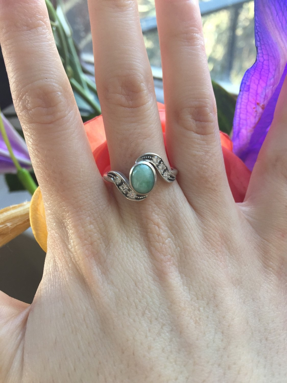 Genuine Emerald Ring Antique Ring Vintage Ring Antique Emerald Ring Antique Rings Sterling Silver Ring Green Vintage Ring Birthstone