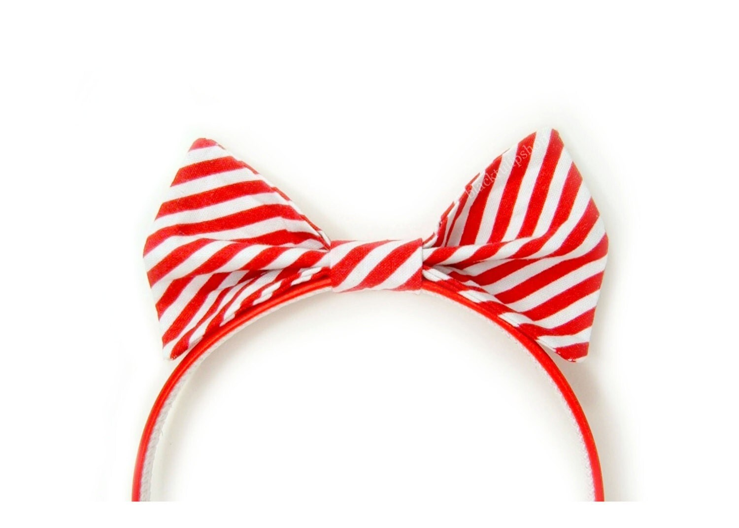 Red White Stripe Christmas Holiday Hair Bow Sweet Peppermint Candy Canes - As Is