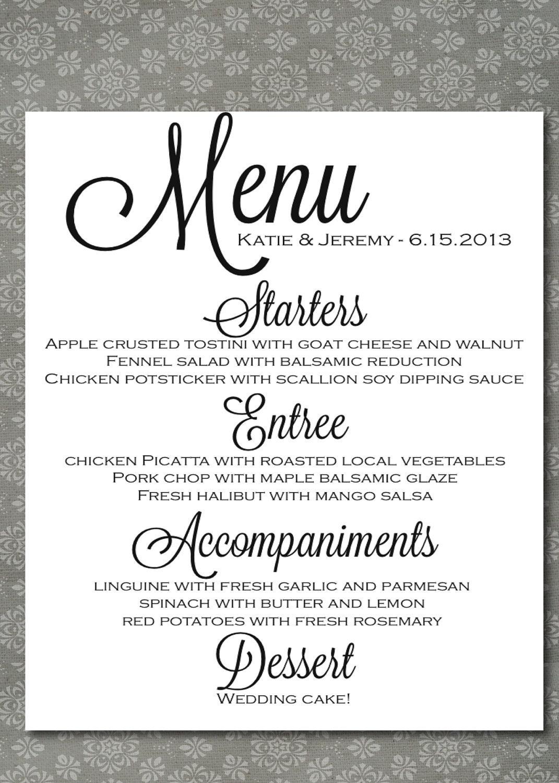 Elegant wedding food menu lunch wedding menu ideas wedding menu elegant wedding food menu lunch wedding menu ideas junglespirit Image collections