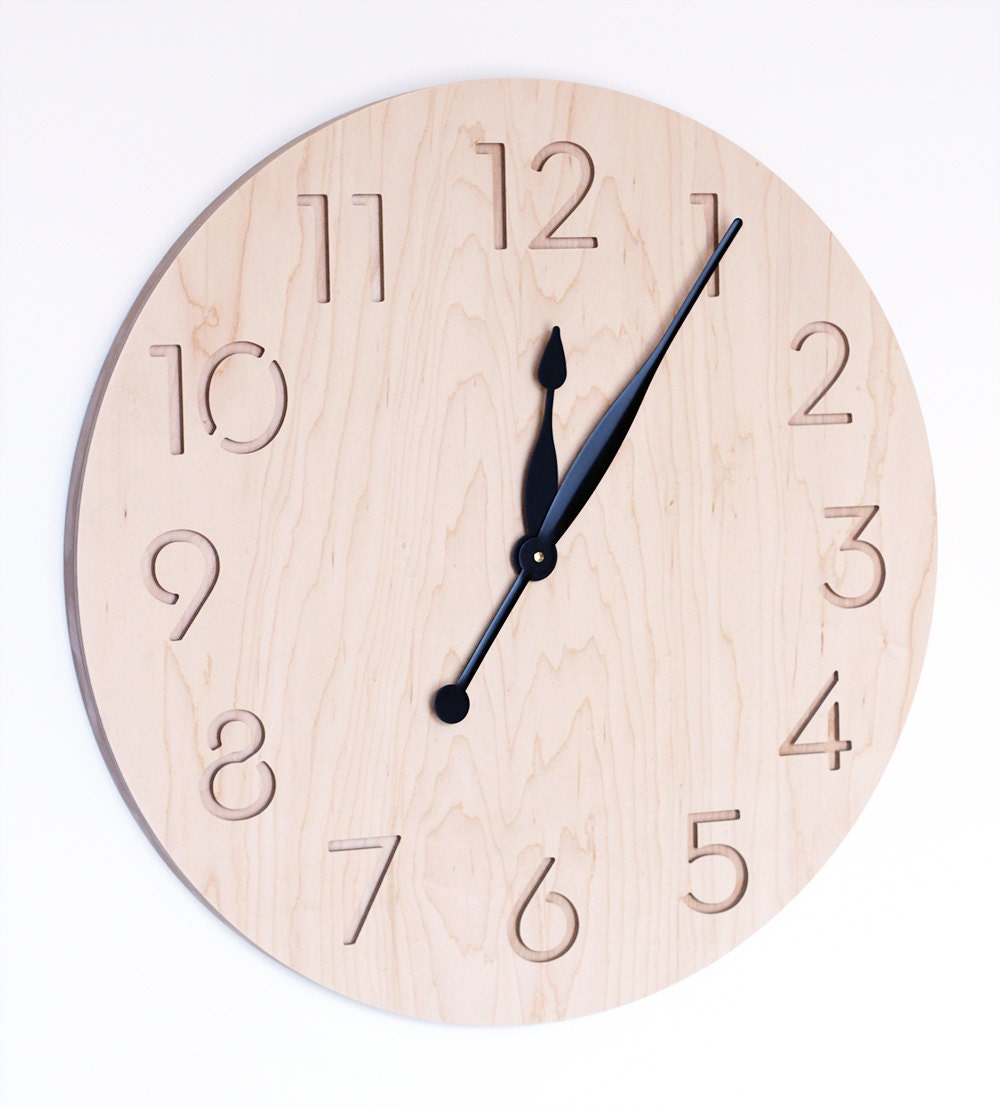 Extra Large Modern Wall Clock By Uncommon On Etsy