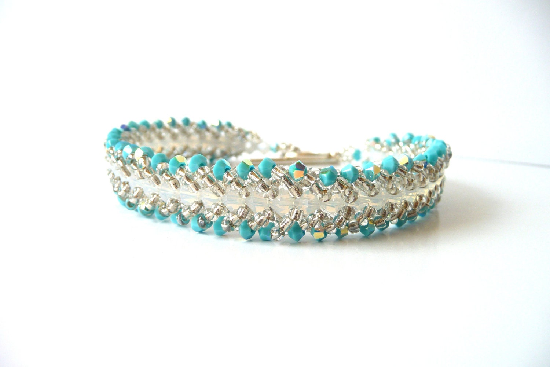 beaded jewelry bracelet bead woven bracelet by meljoycreations