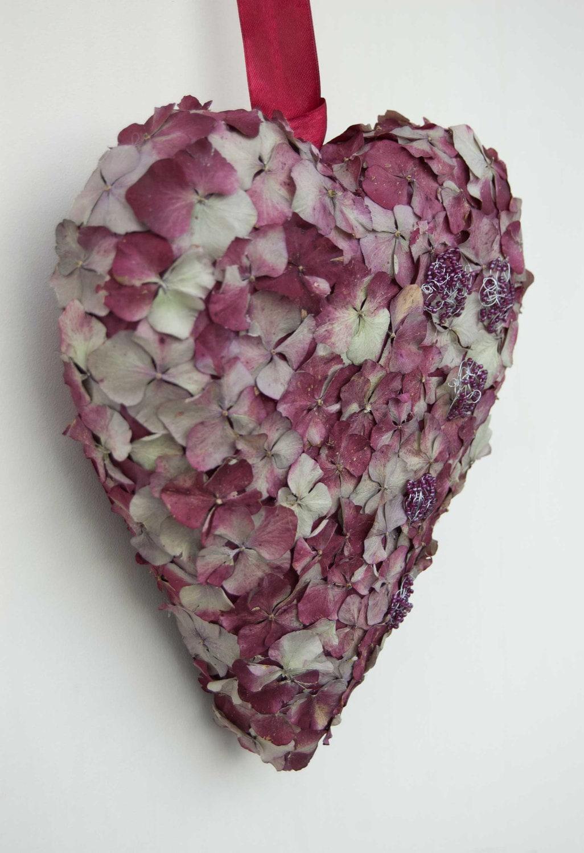 Сердце стене висит, платяной Валентина сердце украшения, двери висит с лепестками гортензия