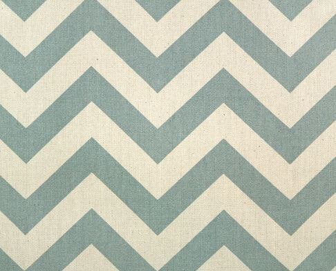 Zig zag chevron curtain panels grey blue and natural drapery window