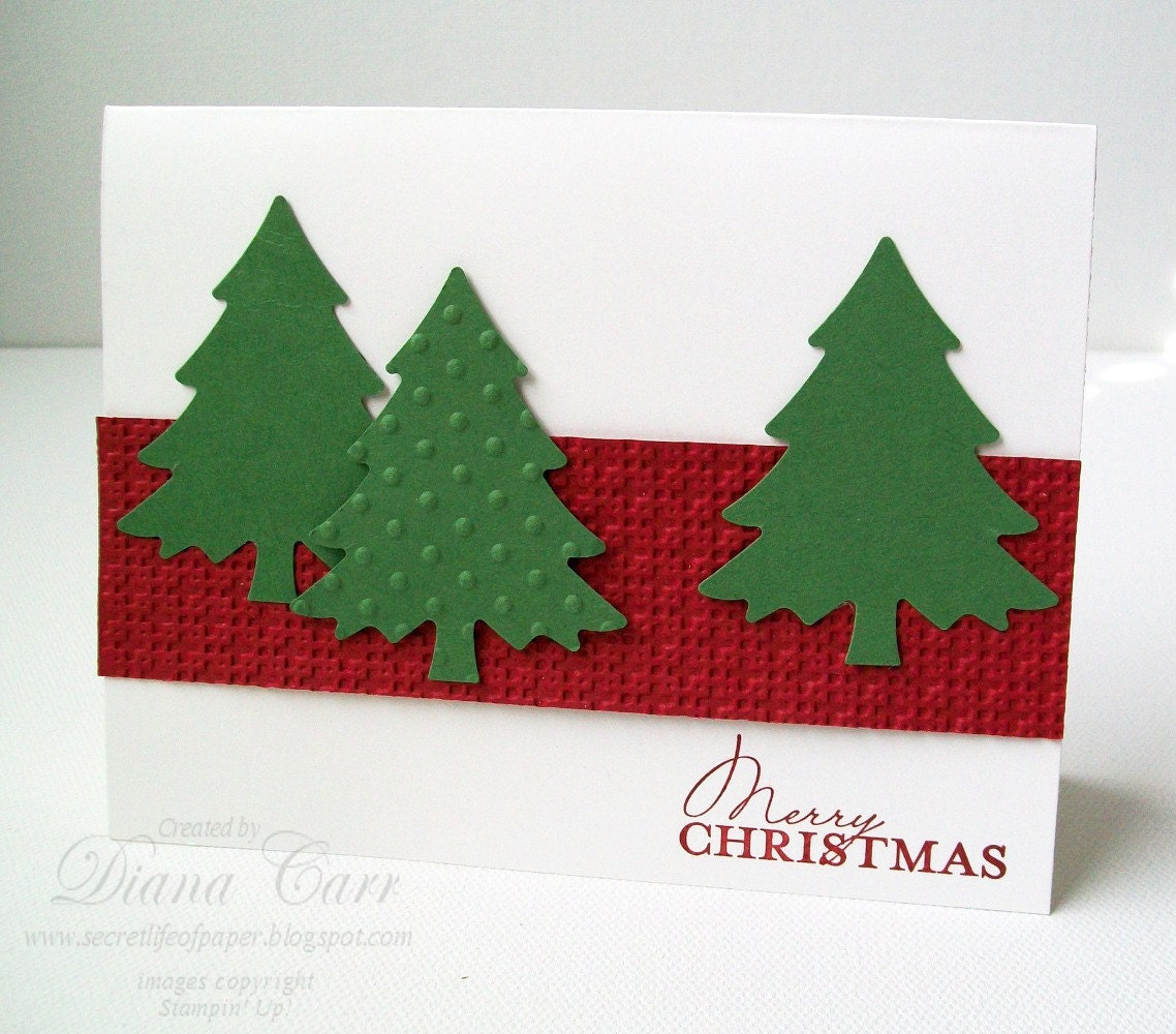 items similar to handmade christmas cards set of 6