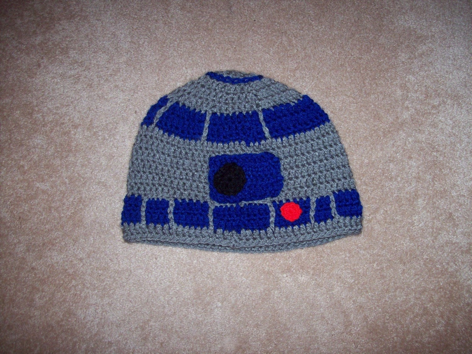 Crochet Robot Droid Hat by craftandcrochet on Etsy