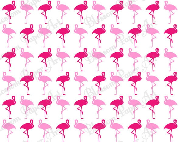 Scrapbook paper computer wallpaper iphone wallpaper about heart paper - Flamingo Pink White Background Digital By Blossompaperart