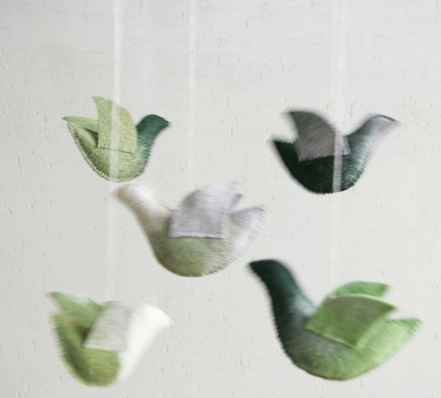 Baby crib mobile - nursery mobile - Birds mobile - GREEN WORLD - baby gift - pure eco - made to order - Patricija