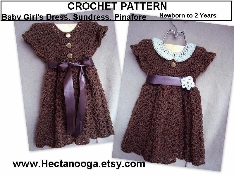 Beginner Crochet Dress Patterns : Girls dress CROCHET PATTERN/ baby girls dress by Hectanooga