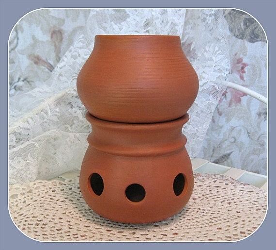 , Tea Light Clay Home Decor Tealight Incense Potpourri Terracotta Pot