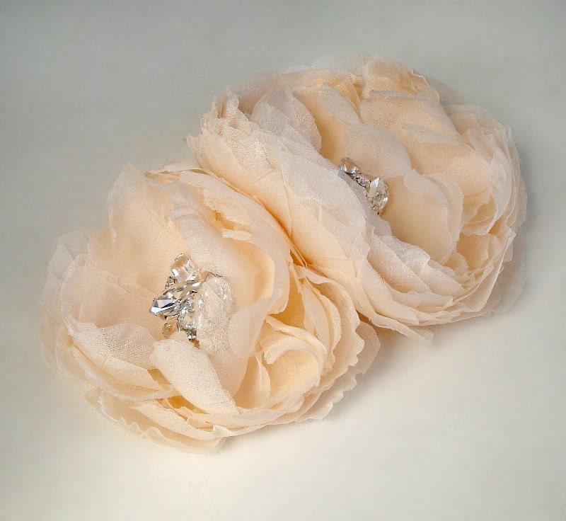 Гера персик розовый лепесток двухместные Gemstone цветы из бисера чародей