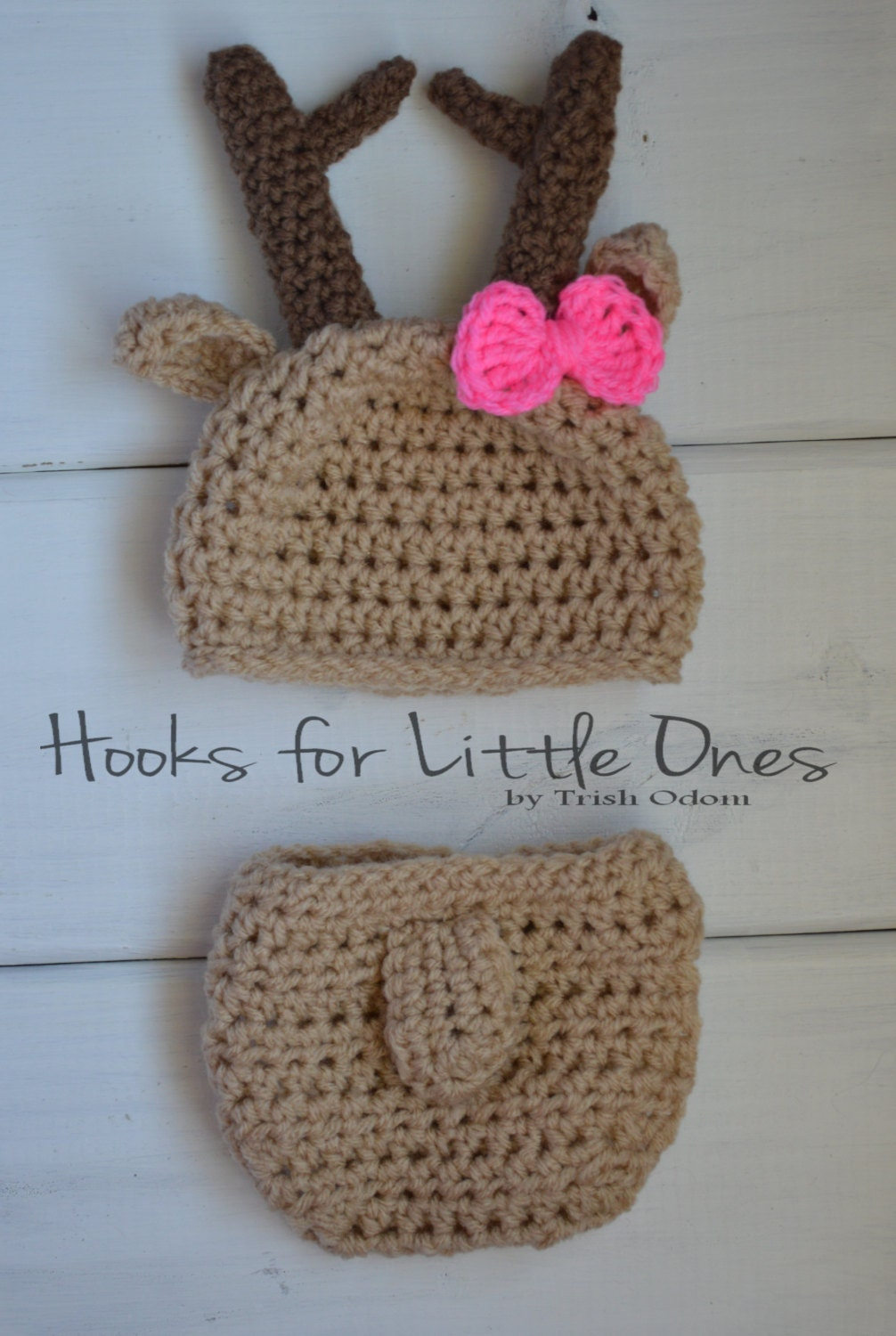 Free Crochet Deer Diaper Cover Pattern : Crochet Deer hat and diaper cover by Hooksforlittleones on ...