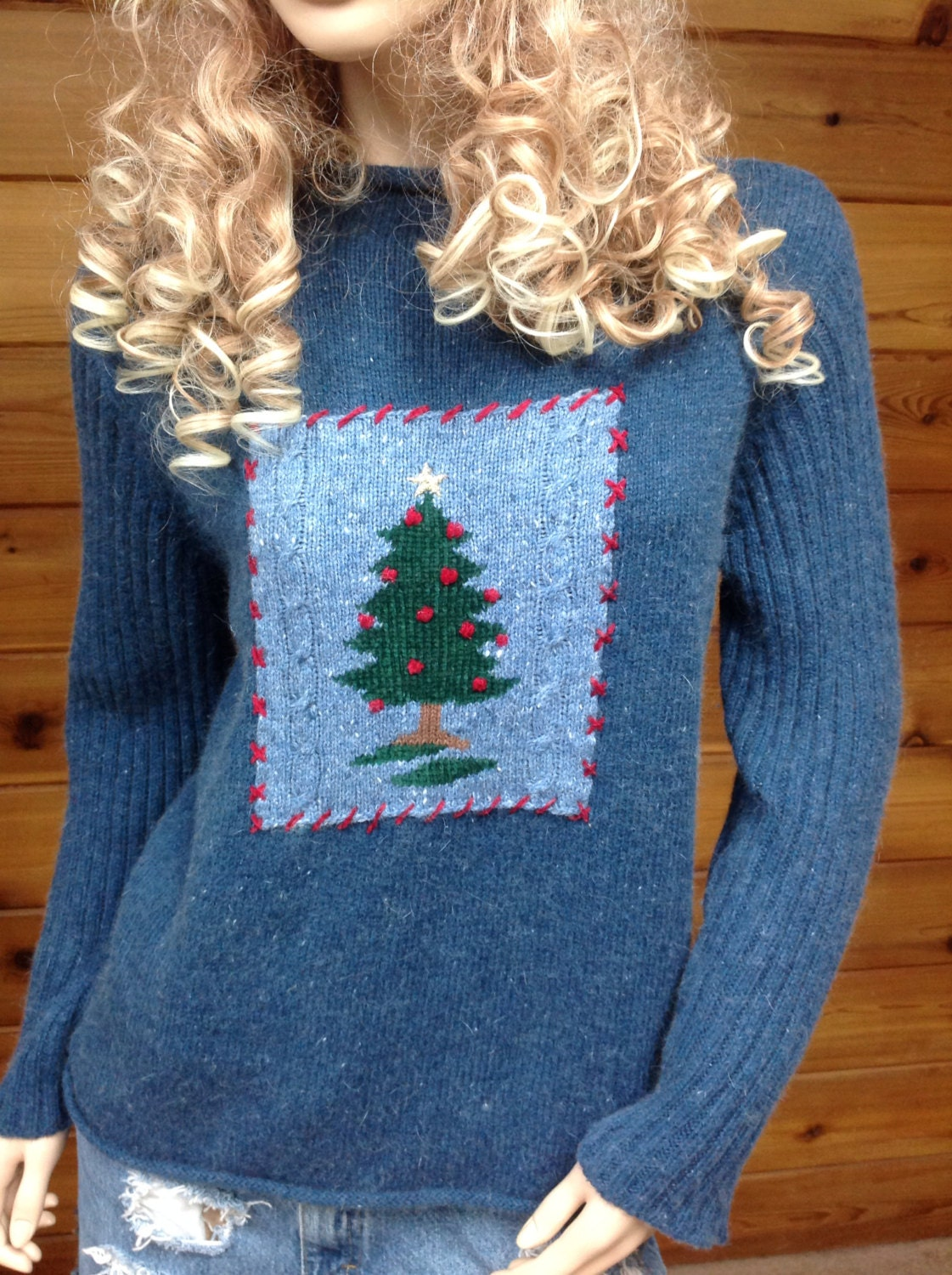 Christmas sweater ugly hipster vintage by Cranberrymoondesigns