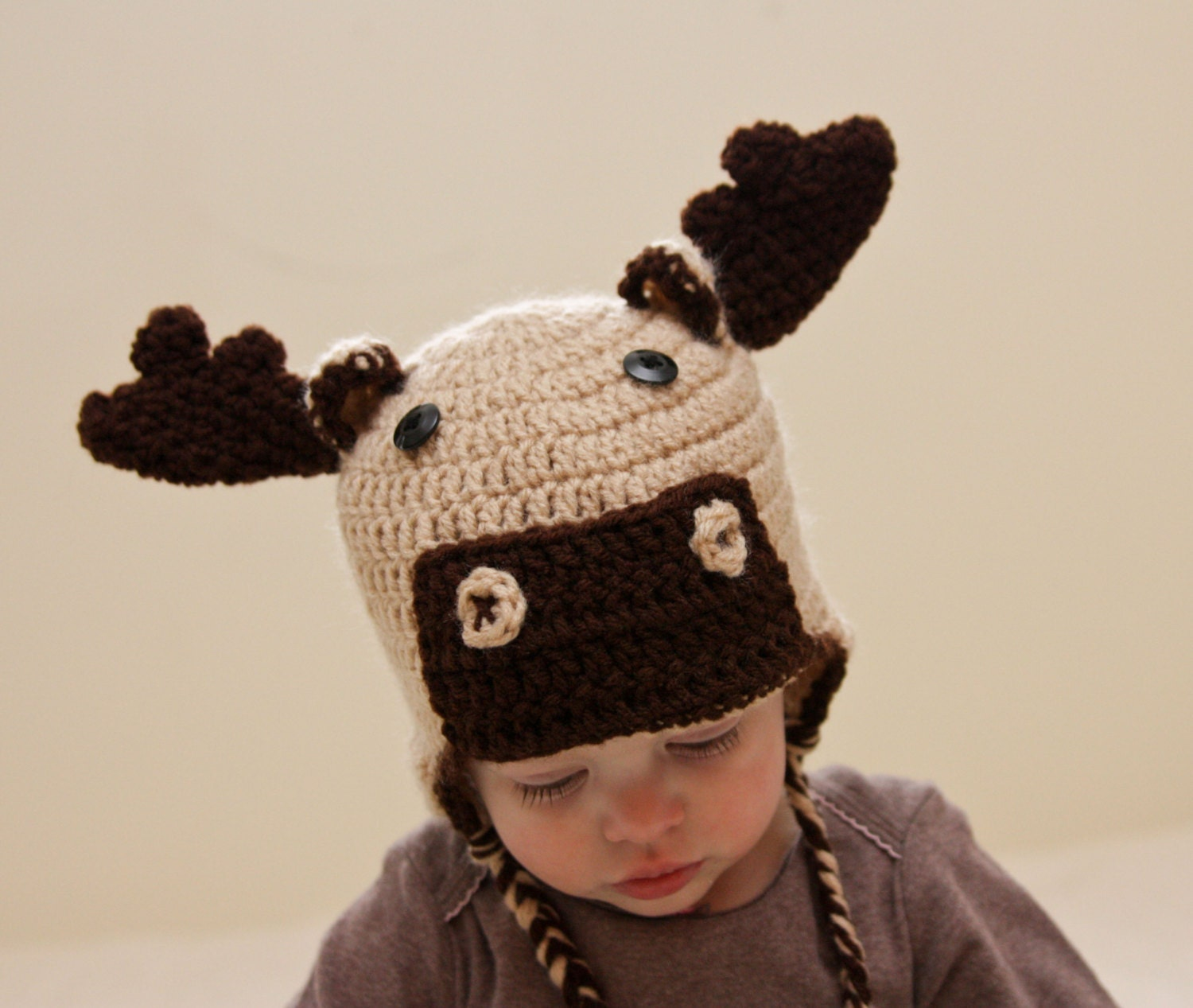 Moose Hat Crochet Moose Hat by CatilyCrochet on Etsy