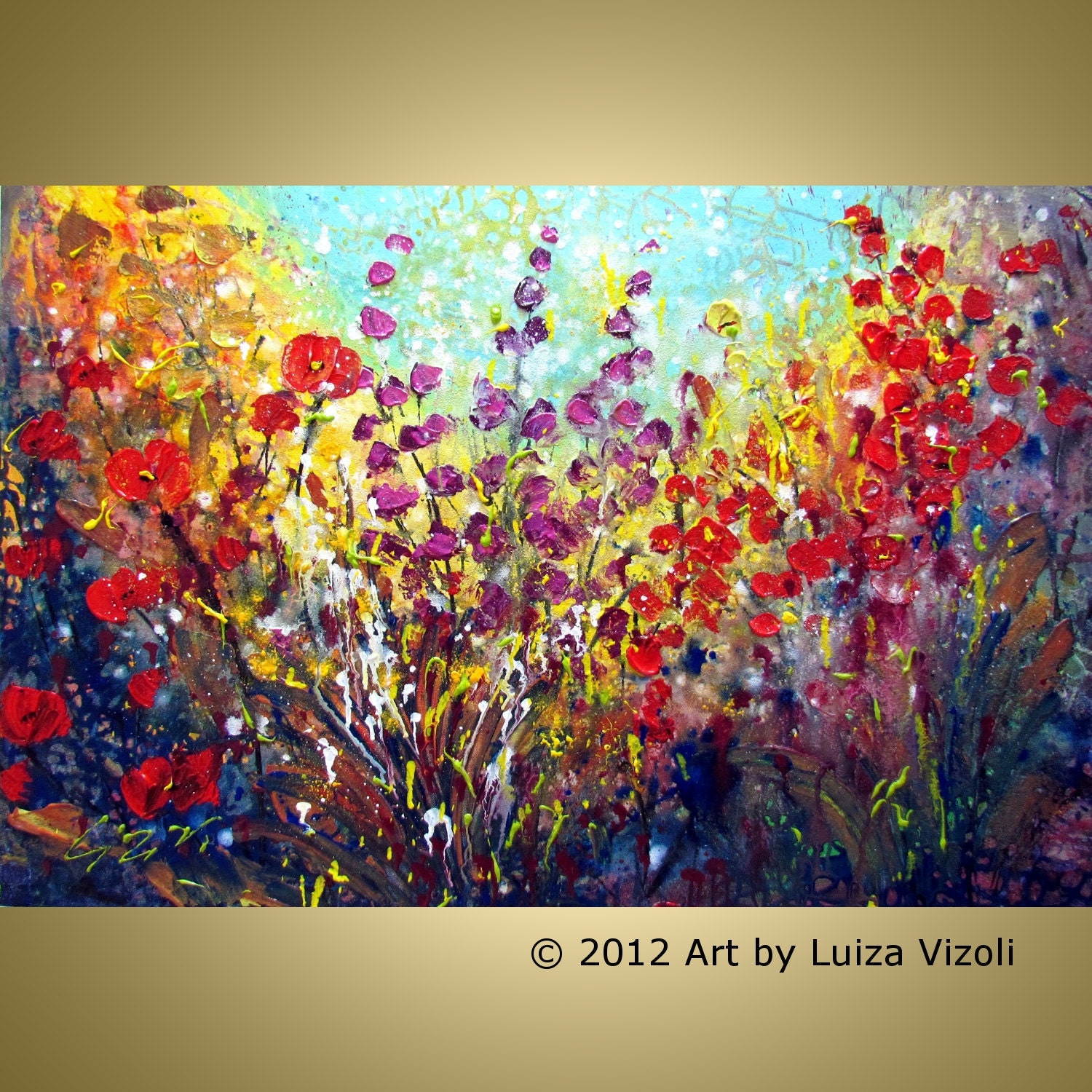 Unavailable listing on etsy for Modern flower paintings