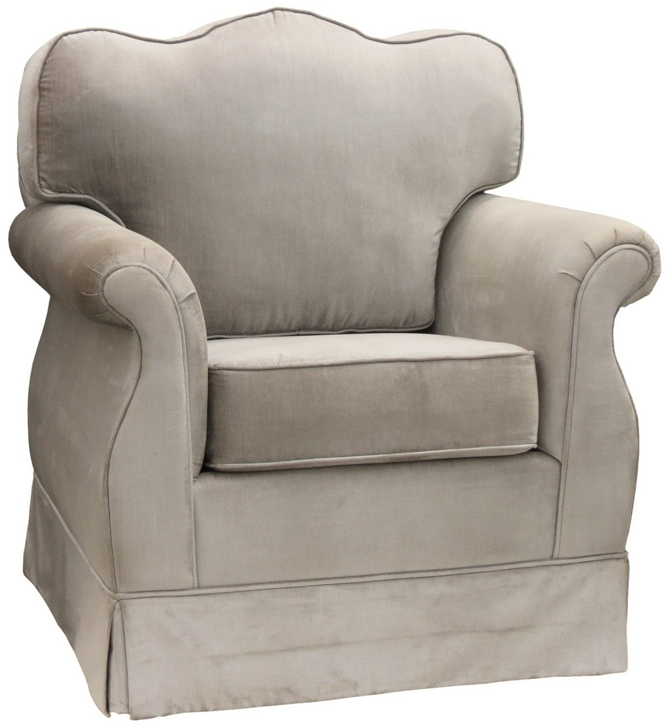Items Similar To Cute Angel Song Aspen Silver Upholstered