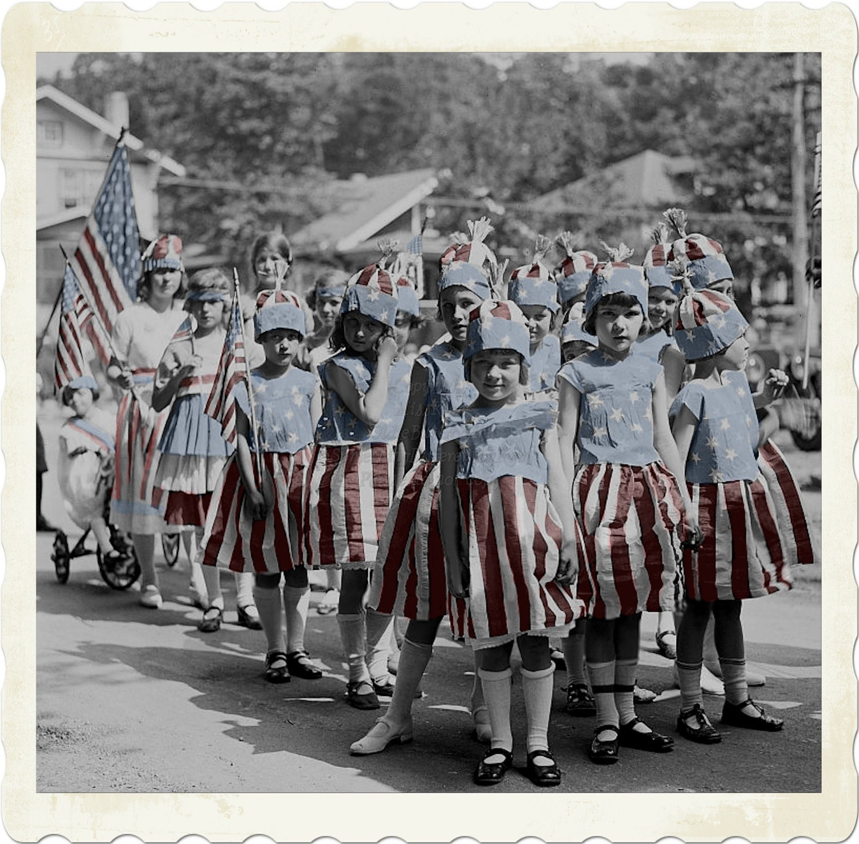 Parade Girls, Vintage Photograph,  antique child photo, digital download - MsAlisEmporium