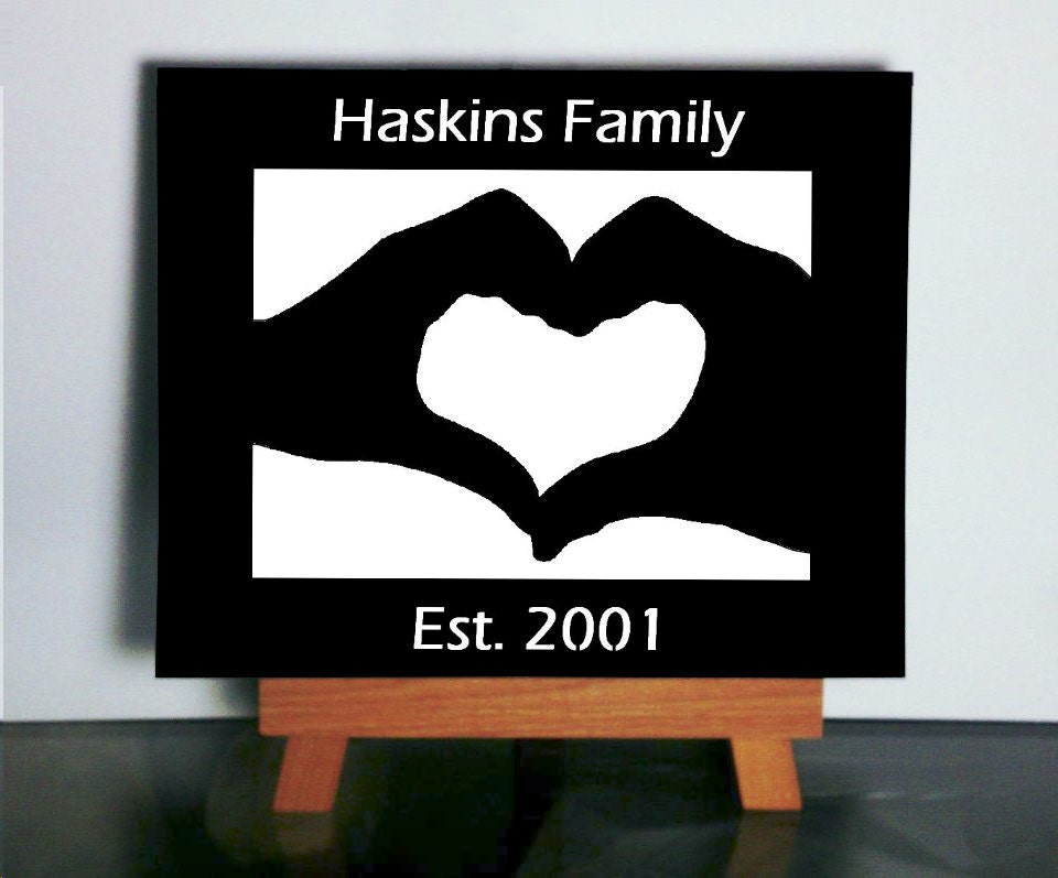 Customizable Family Art Papercutting 8x10 - VibrantShadows