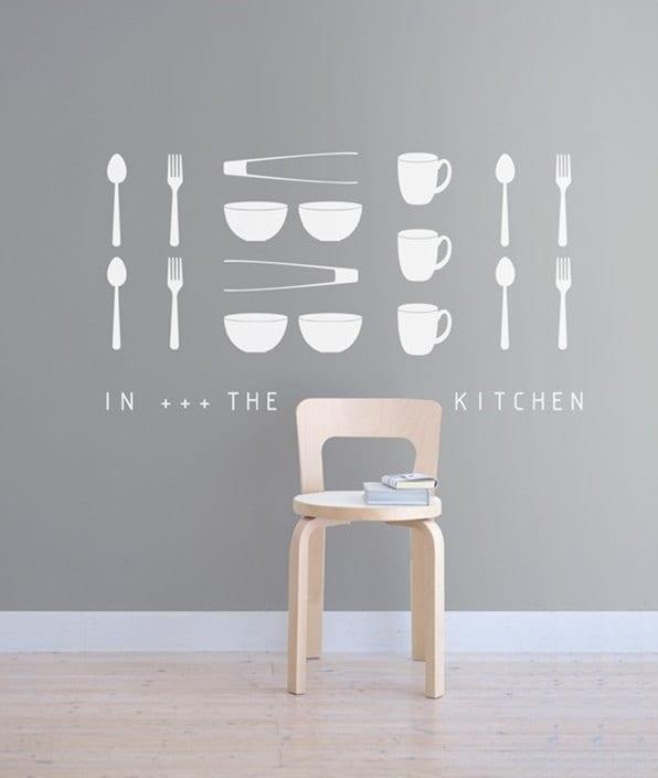 Wall Art Words Diy : Items similar to kitchenwares words diy kitchen wall art