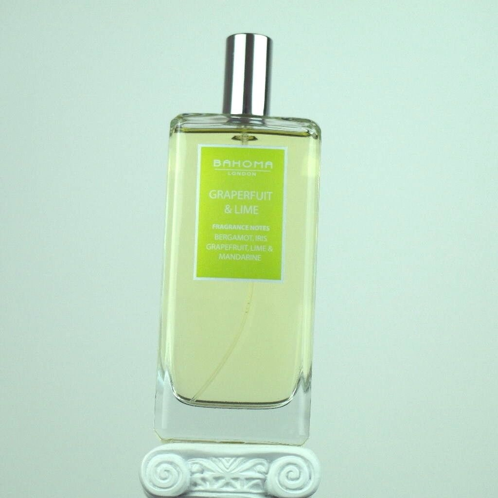 Image of 100 ml Grapefruit Lime Room Spray BAHOMA London Bergamot, Iris, Grapefruit, Lime, Mandarine