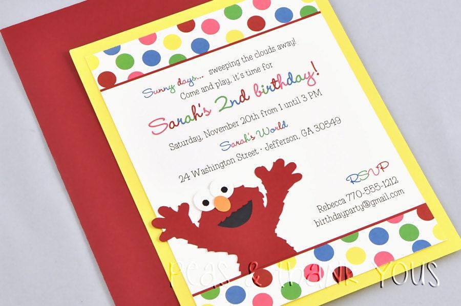 Sesame Street Invitations Etsy was Fresh Design To Create Perfect Invitations Design