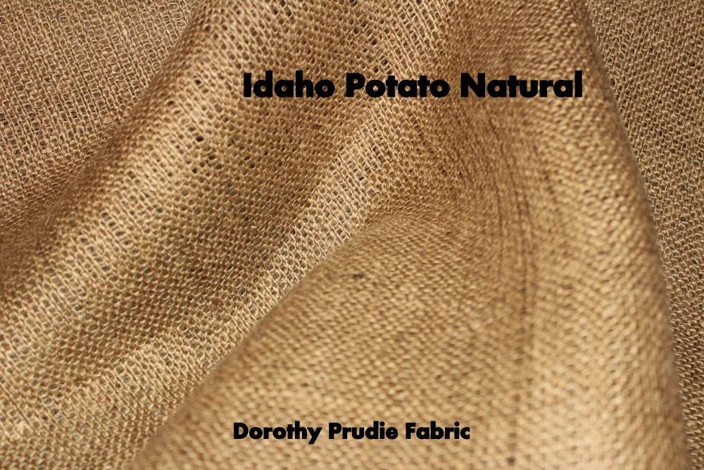 Burlap natural idaho potato colored by dorothyprudiefabrics for Colored burlap fabric