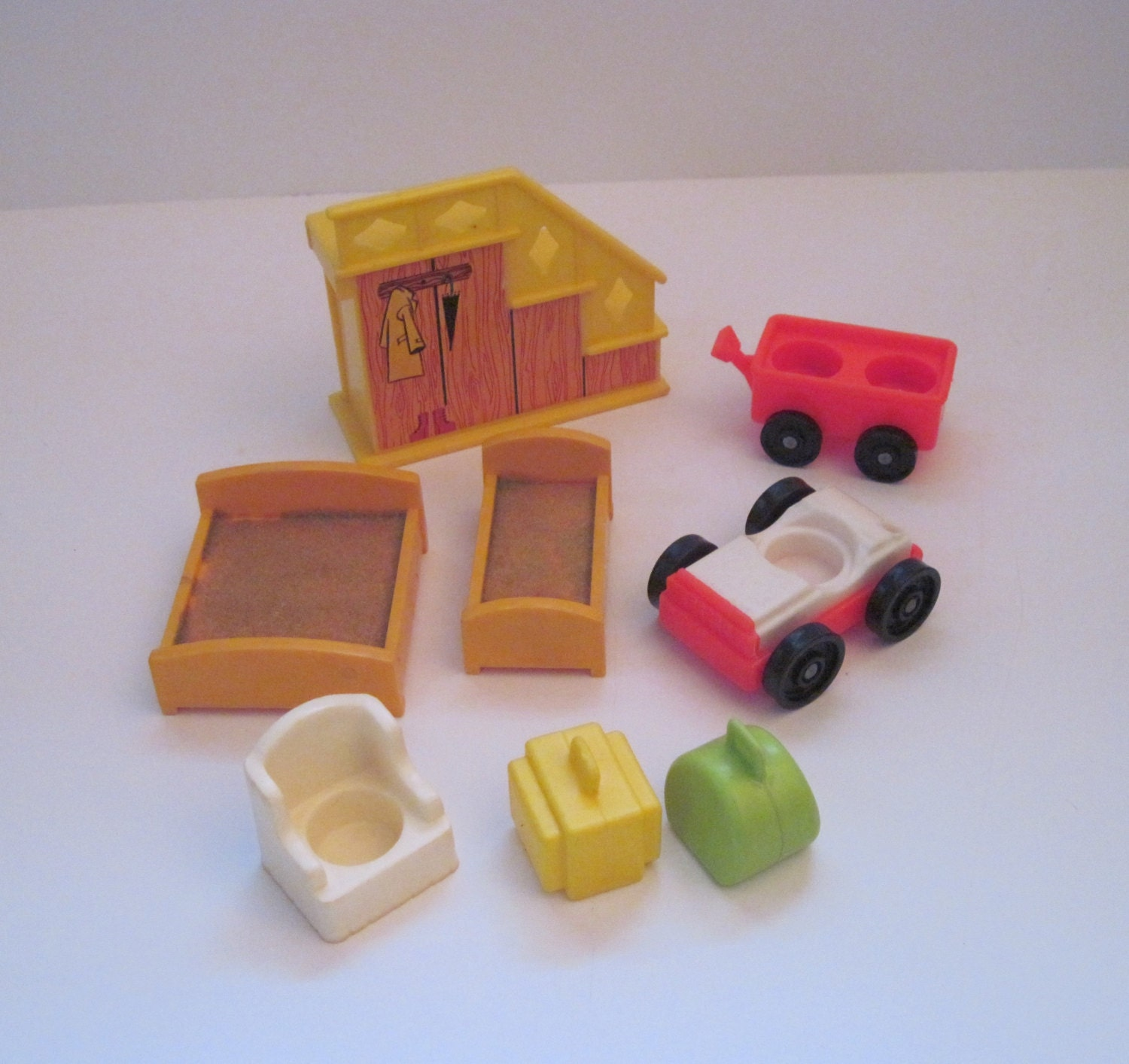 Vintage Fisher Price Little People Furniture By Dragonsvault