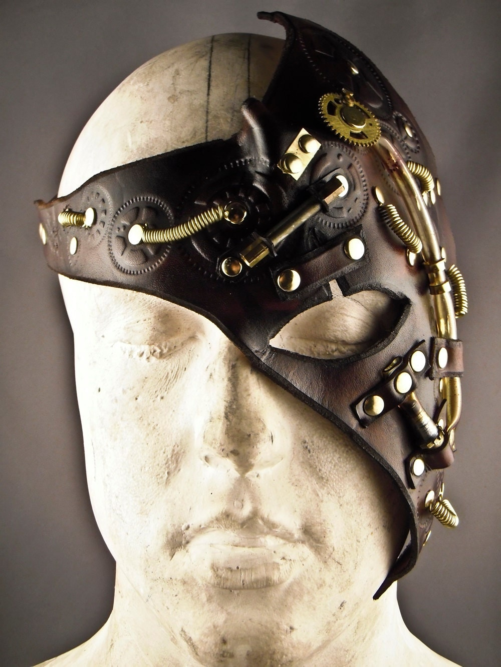 how to make a leather steampunk mask