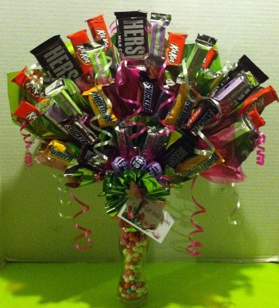 how to make a candy bouquet centerpiece
