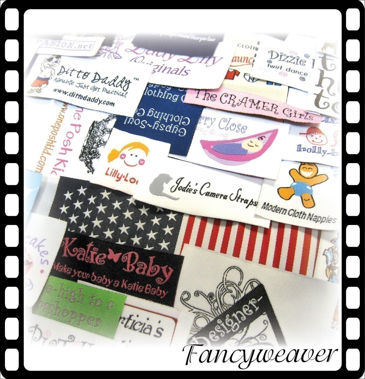 200pcs custom boutique woven clothing labels by for Boutique labels clothing
