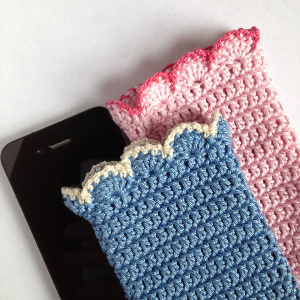 Free Crochet Pattern For I Phone Case : Crochet iPhone 4 Case Mobile Cozy Cell Phone by ...