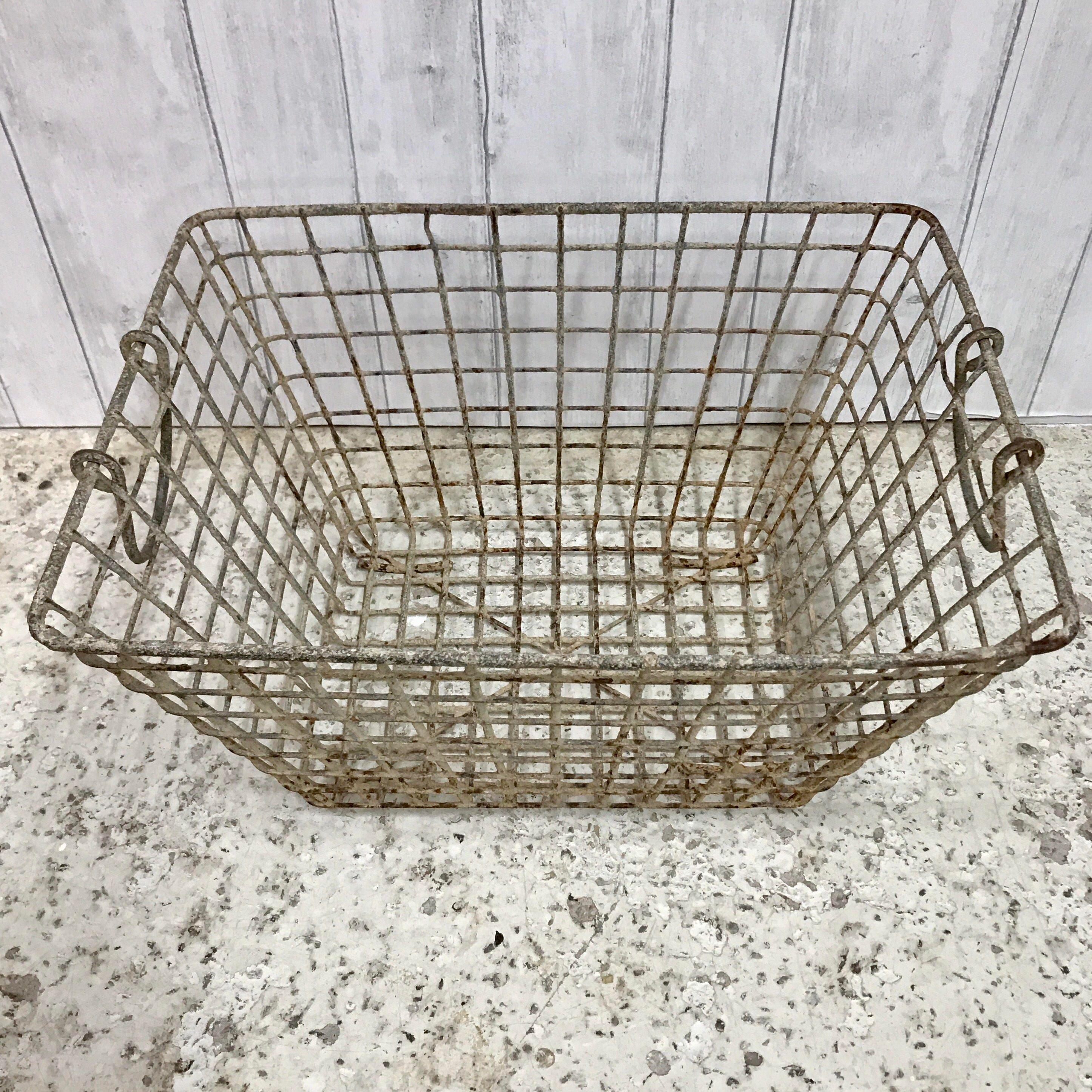 Genuine Vintage French Metal Oyster Baskets would make ideal batroom  kitchen storage or flower baskets