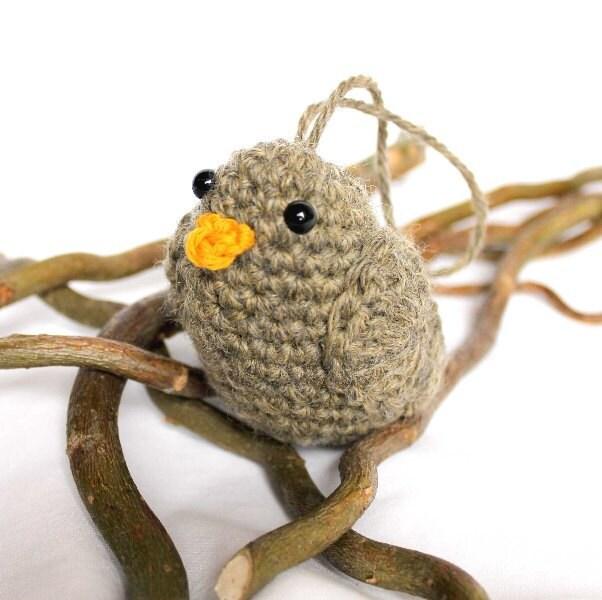 Sparrow Amigurumi Bird - CageFreeFibers
