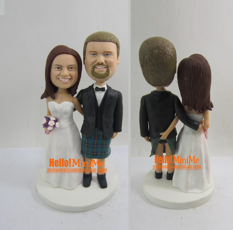 Wedding Cake Topper Custom Cake Topper Wedding By Hellominime