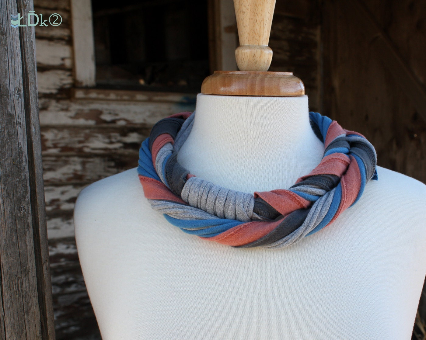 Casual Scrap Mix - LDk2 Cotton Jersey Scarf