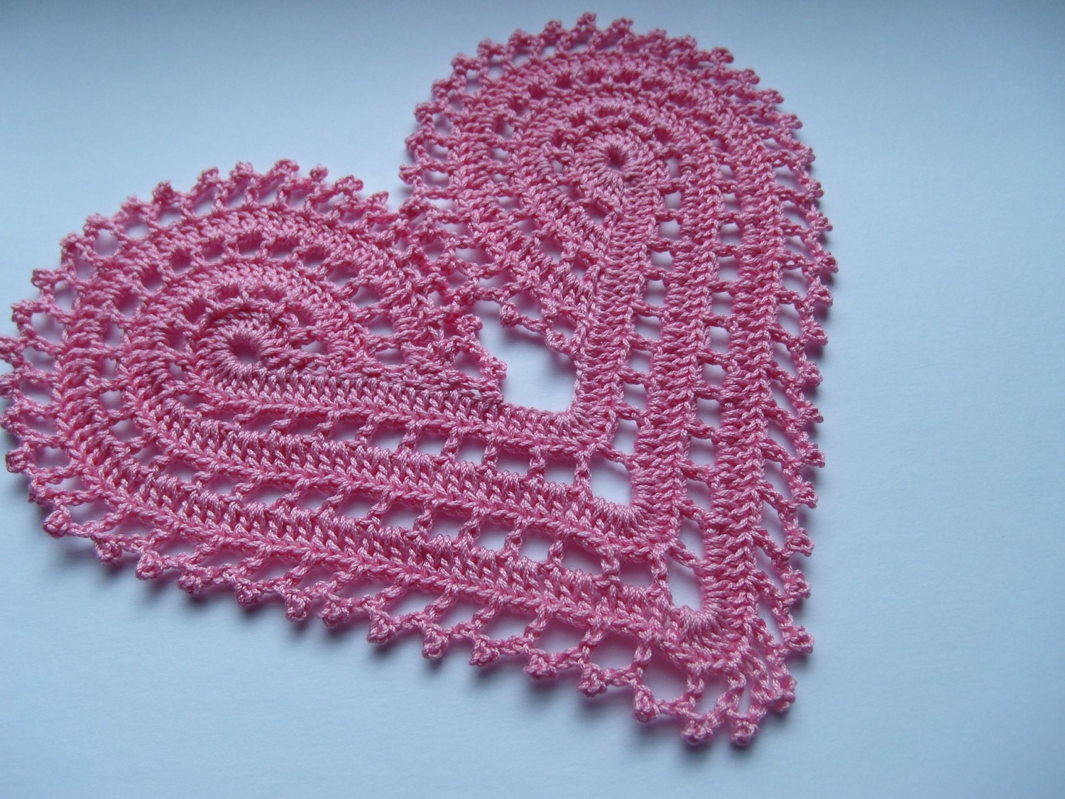 Free Crochet Pattern For Heart Doily : Crochet Heart Doily Pattern Search Results Calendar 2015