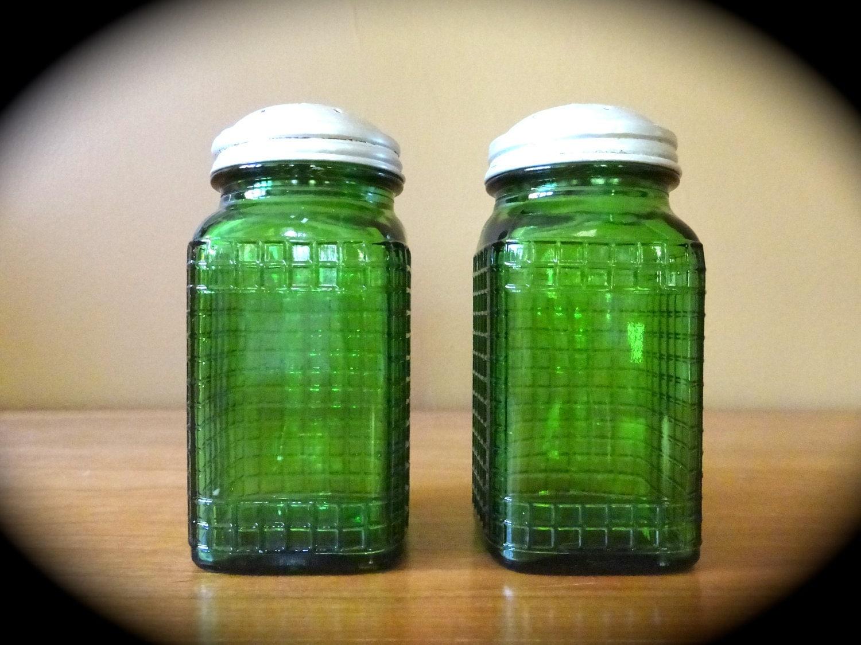 vintage salt pepper green