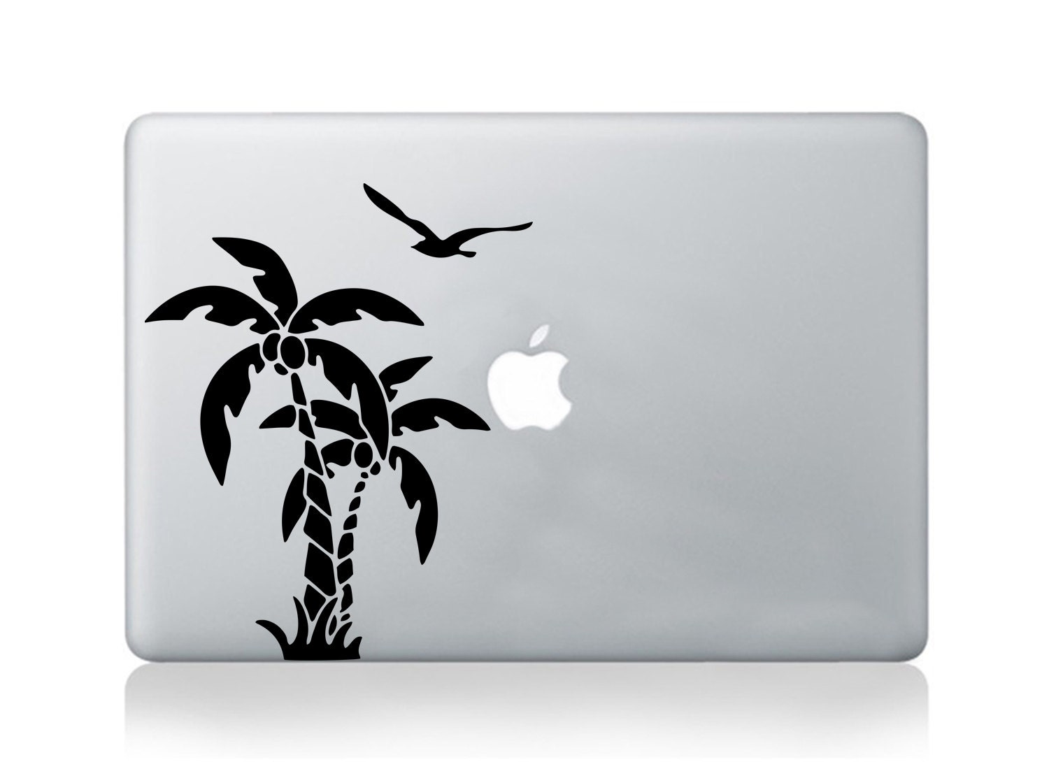 Macbook decal palm tree vinyl sticker sunset beach decal transfer graphic laptop notebook skin Asus HP Toshiba Dell decal