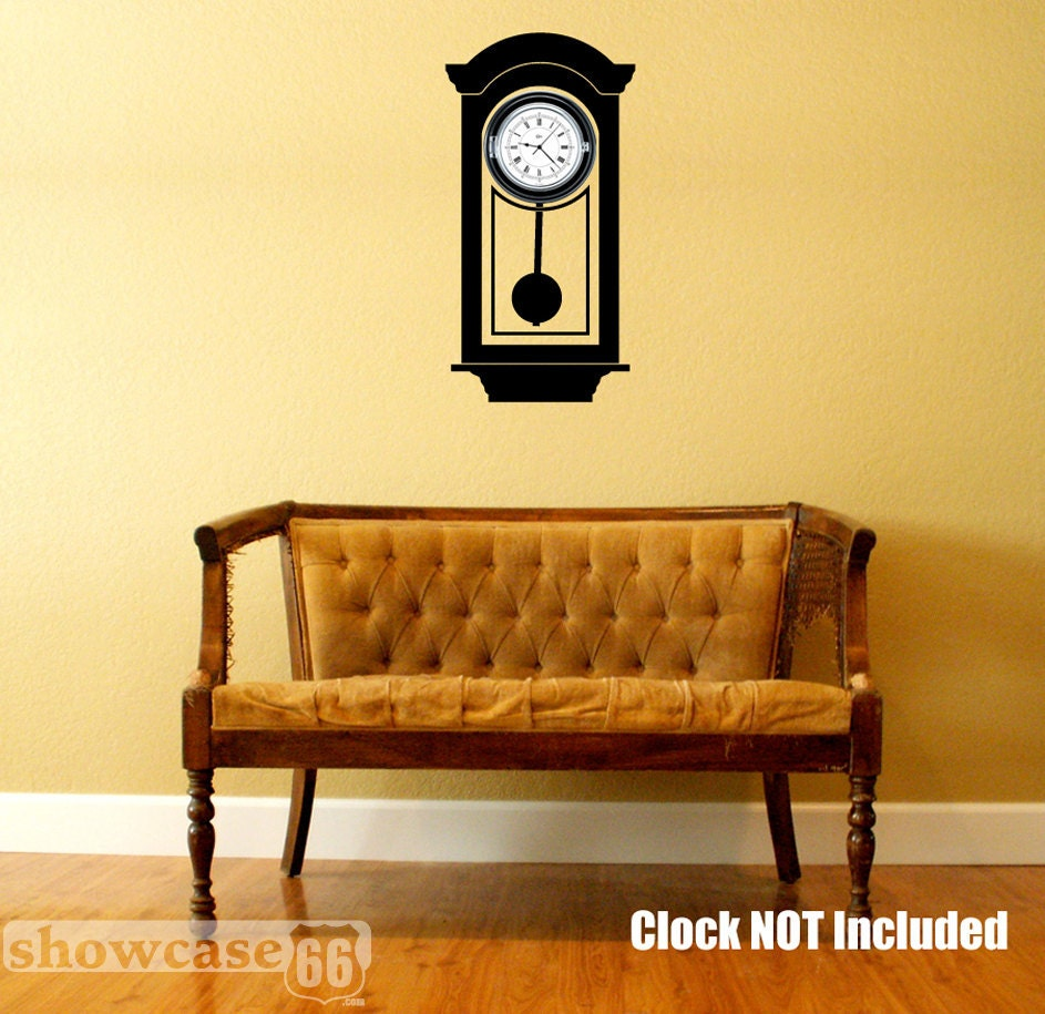Hanging grandfather clock vinyl wall art free by showcase66 - Wall hanging grandfather clock ...