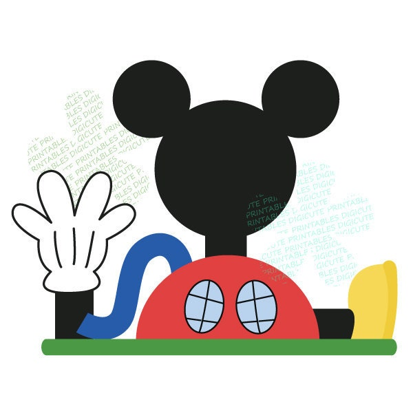 Items Similar To Disney Mickey Mouse Clubhouse Digital CLIP ART Personal And Commercial Use For
