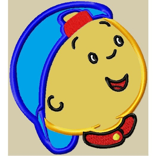 Caillou Embroidery APPLIQUE Design (2 sizes)