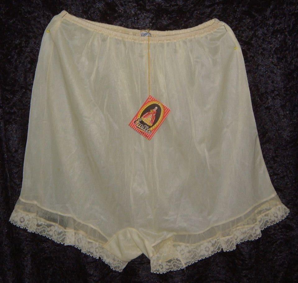 Ensro tap panties yellow semi sheer nylon by