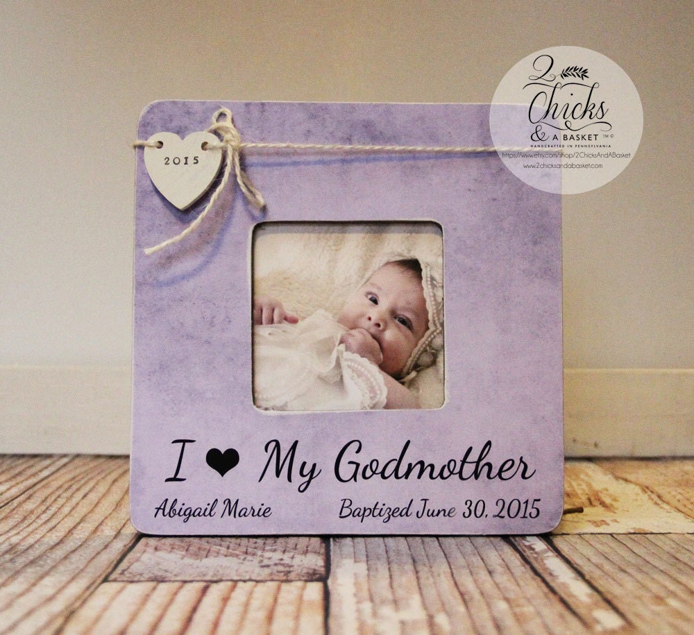 Godparent Picture Frame Baptism Gift Godparents Are