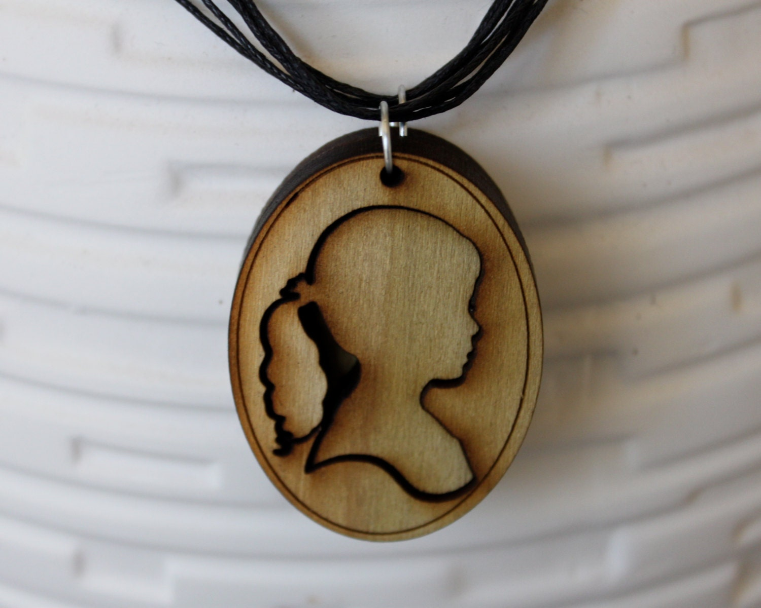 "2 ""Like Sisters"" Silhouette Cameo Best Friend Necklaces Laser-Cut Wood - JDBmercantile"