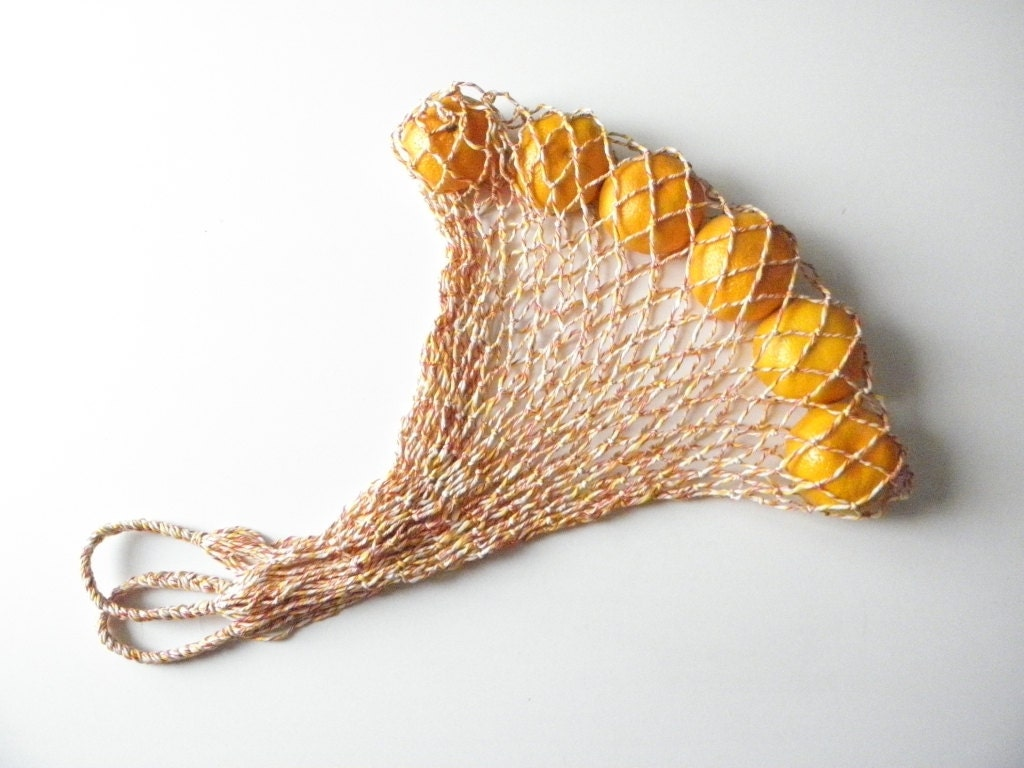 FREE SHIPPING - Eco-friendly reusable shopping bag, string bag, fishnet bag - EcoNet